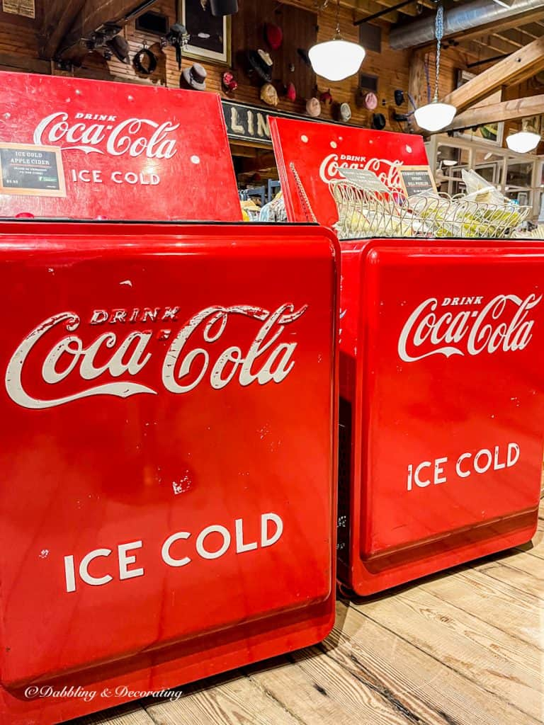 Two Old Fashioned Coca-Cola Coolers