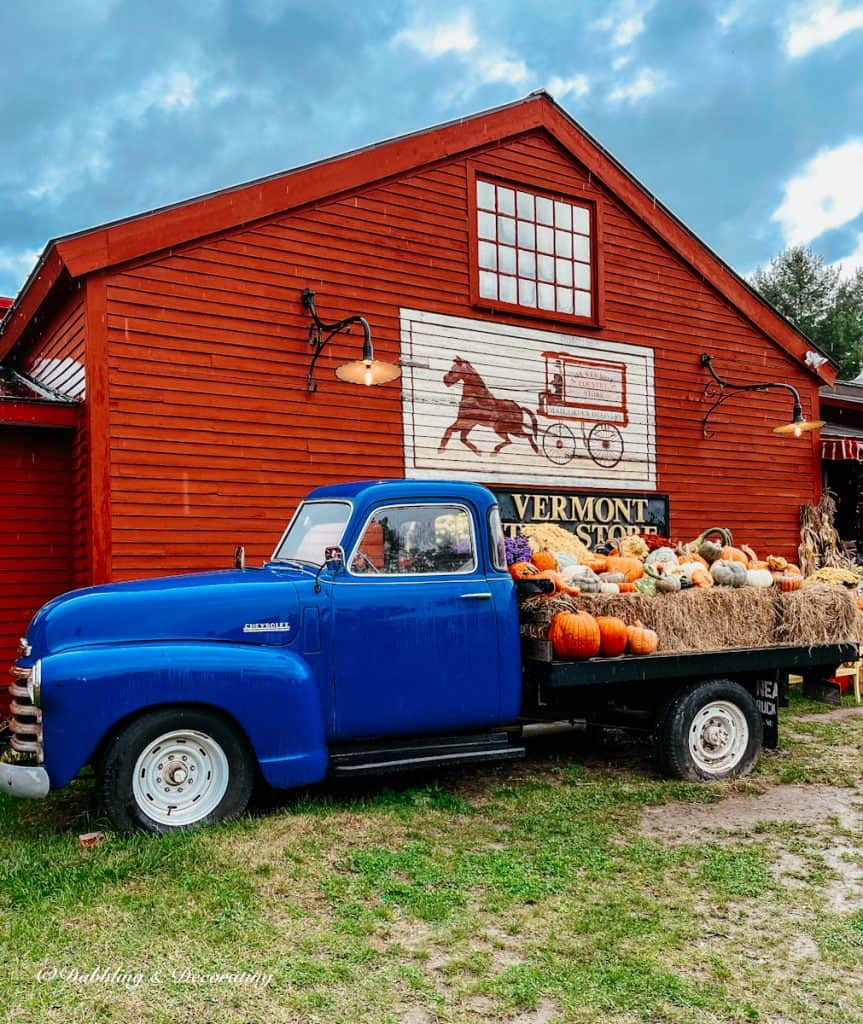 The Vermont Country Store with blue truck.