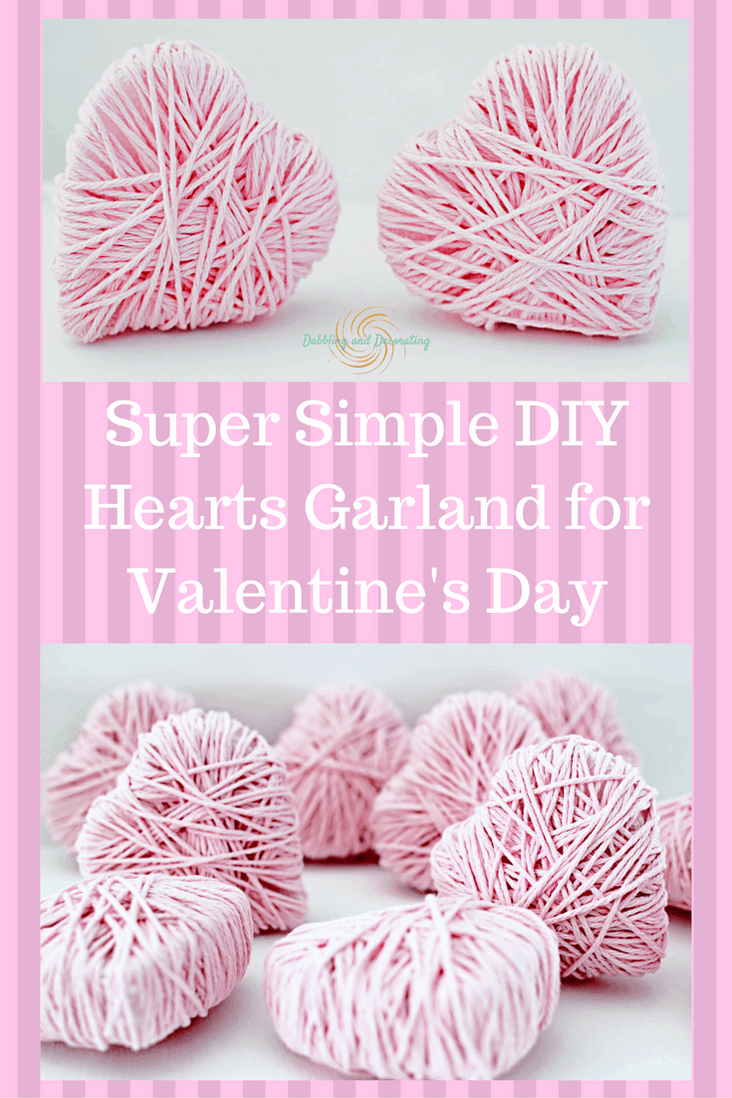 DIY Heart Garland for Valentines Day.