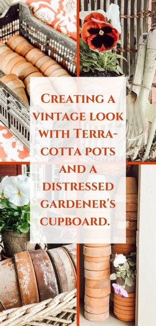 A Garden Terracotta Cupboard