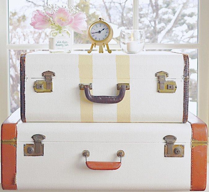 Vintage Suitcase Decor.