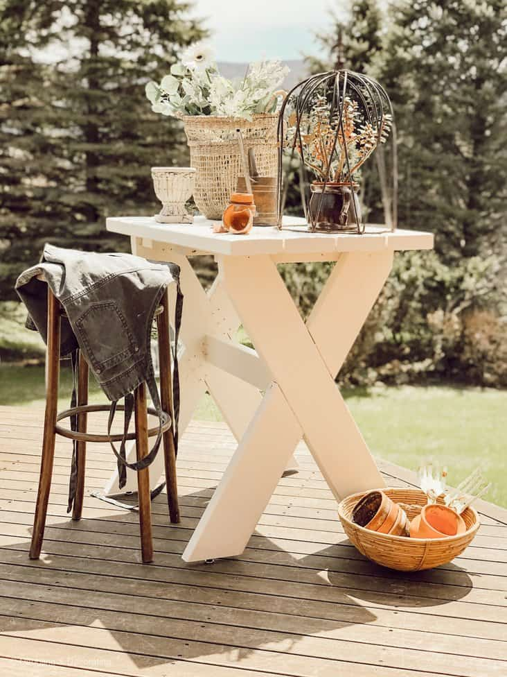 DIY Garden Table