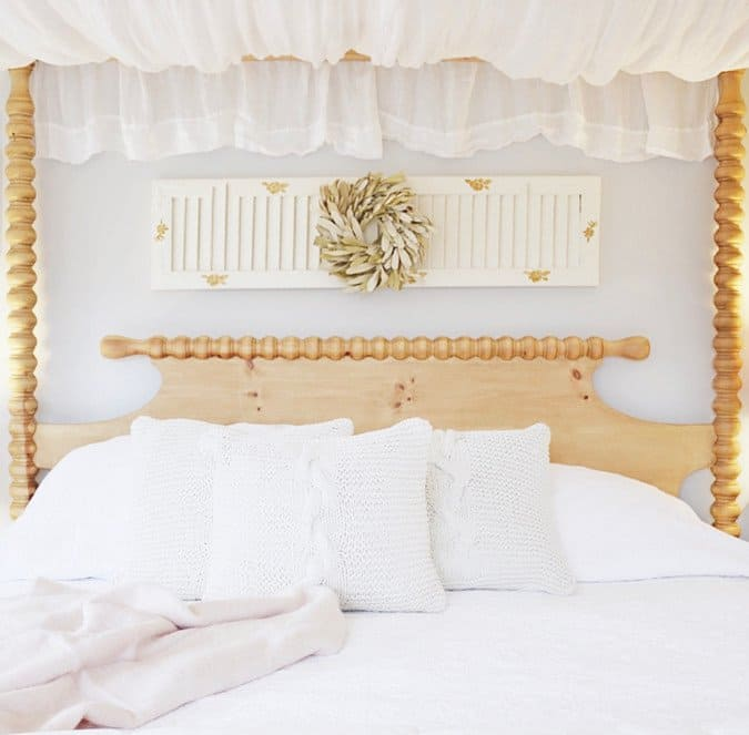 Master Bedroom with Canopy Bed.