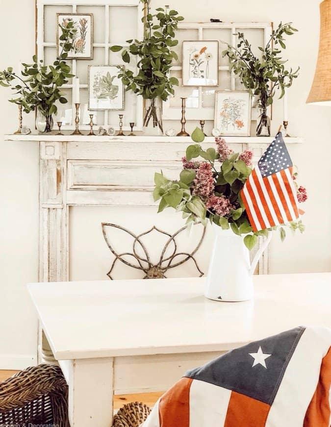 A Patriotic dining room