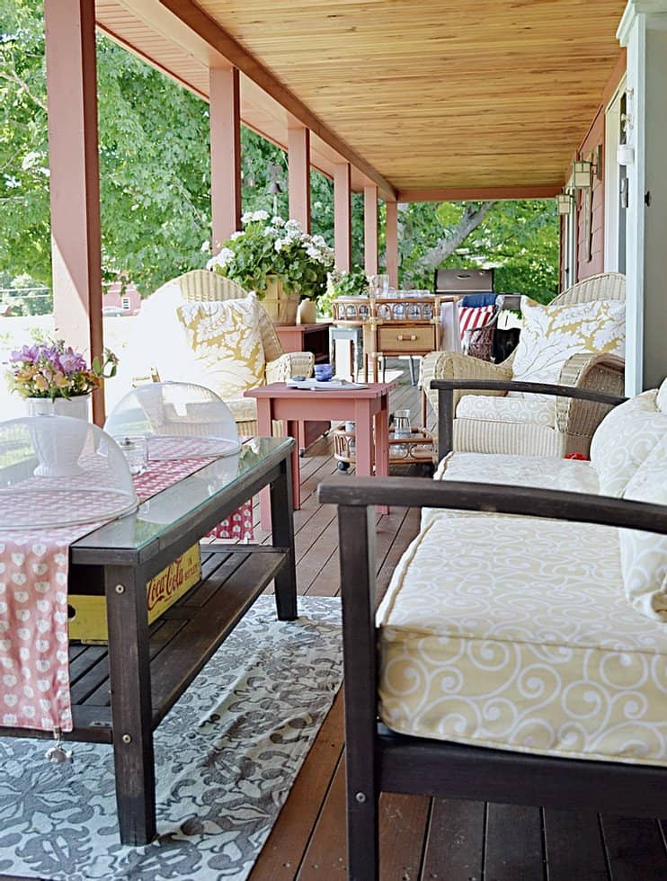 Vintage Porch Decor in the Mountains