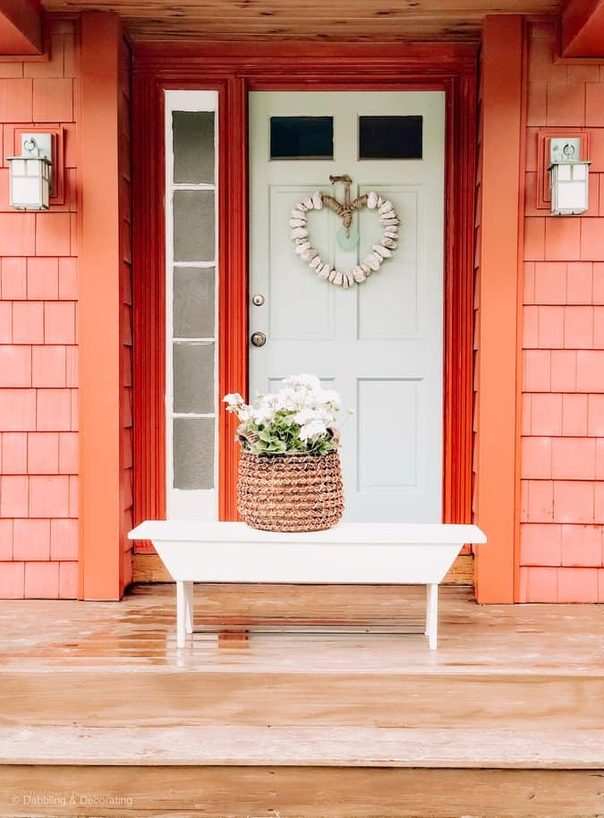 Nordic Blue Front Door & Rustic Red House