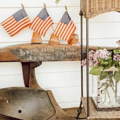 Simple Patriotic Vintage Decor