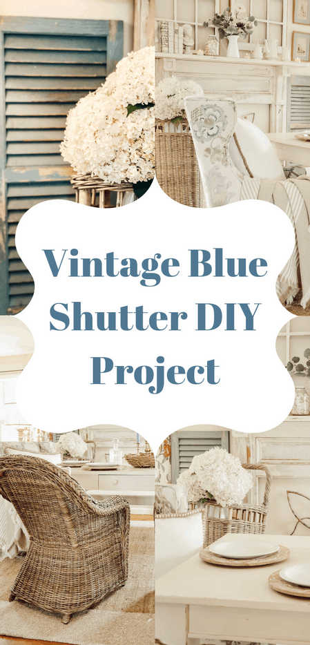 Vintage Blue Shutter Project