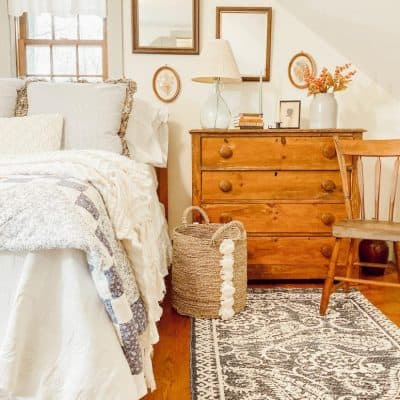 Coastal Maine Antique Guest Bedroom