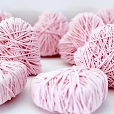 Crafty, DIY Heart Garland for Valentines Day!
