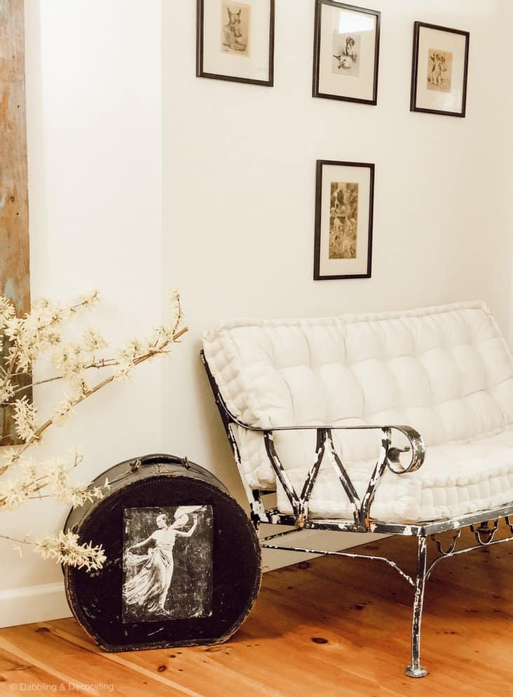 Wrought Iron Chair Makeover and home entryway