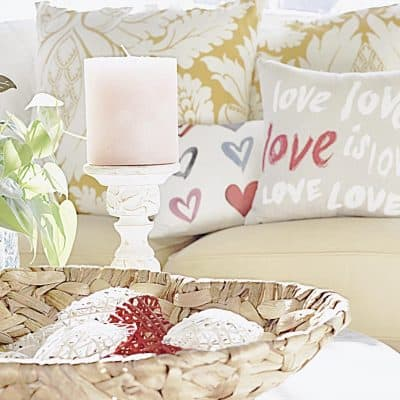 Falling in Love with Home Decor!  A Valentine's Day Home Decor Blog Hop!