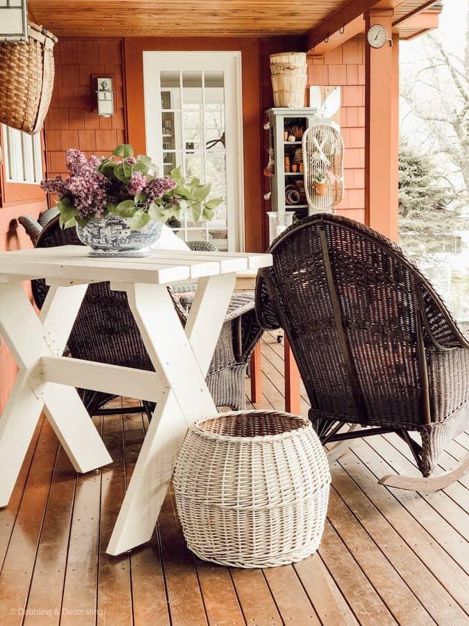 Vintage Style Front Porch