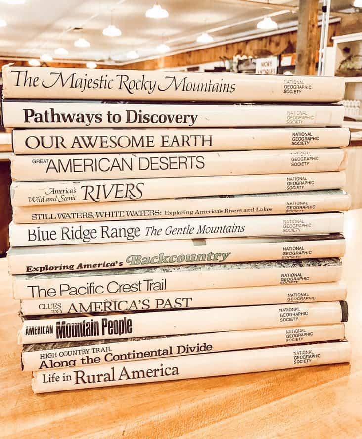 Sack of books.