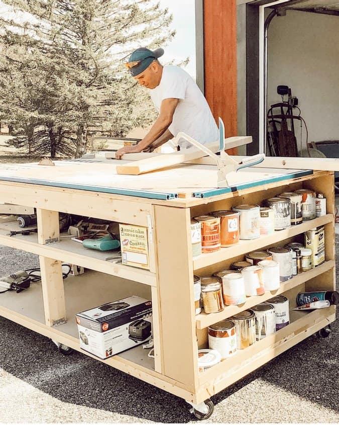 DIY Mobile Workbench