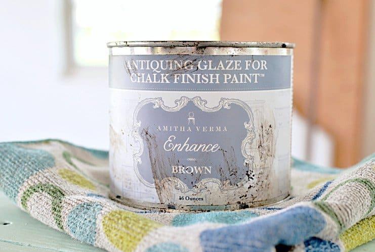 Antiquing Glaze for Chalk Finish Paint.