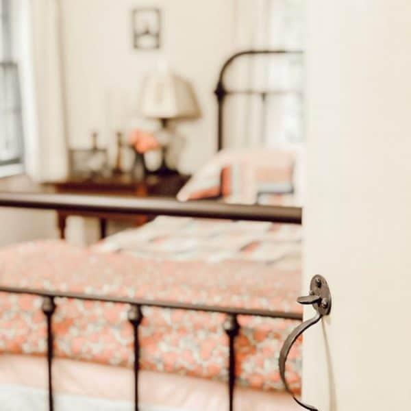 Door opens into a bedroom
