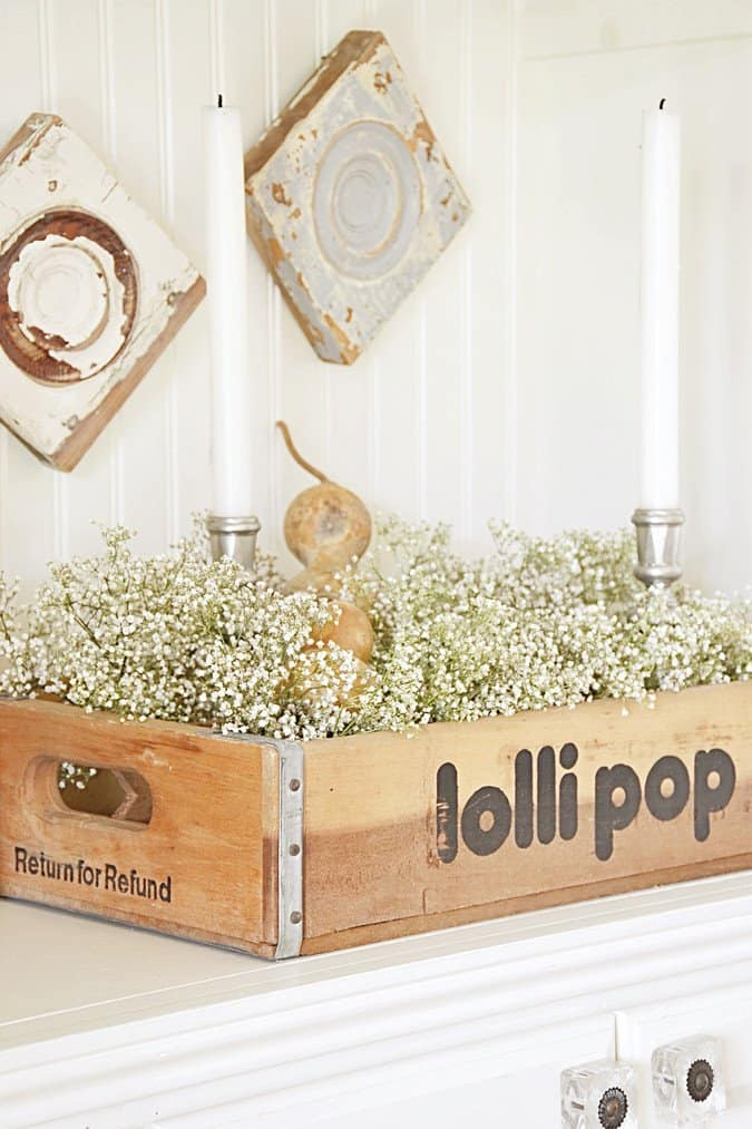 Vintage lolli pop crate.