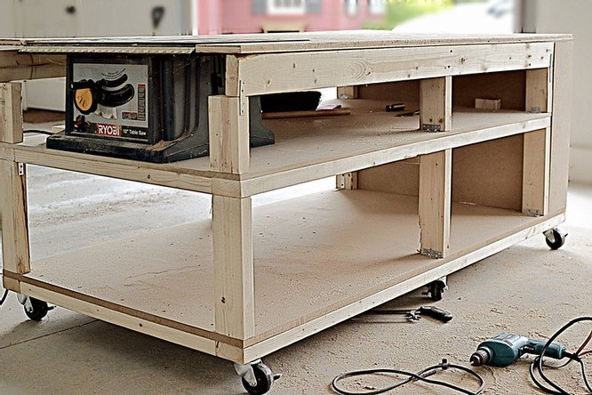 DIY Mobile Workbench and Home Workshop Reveal