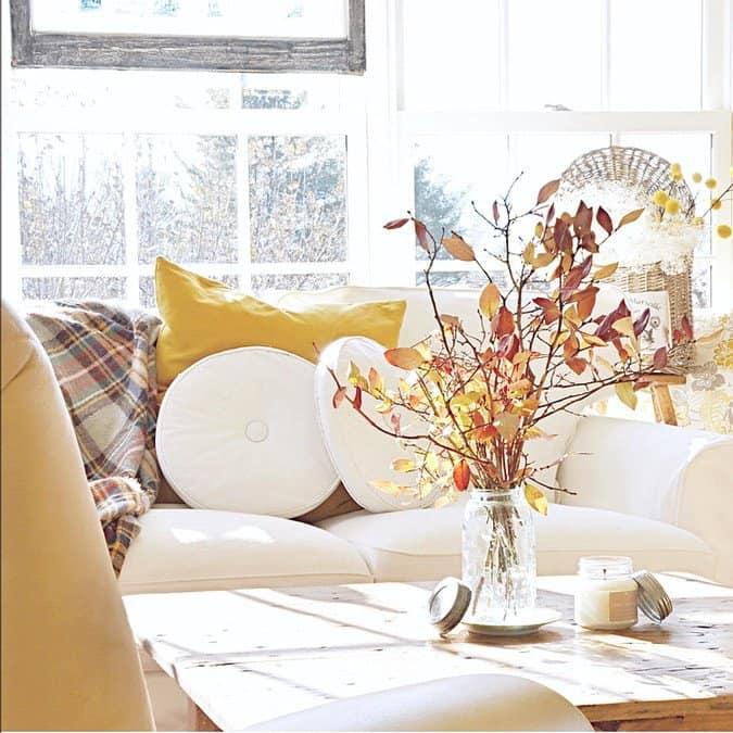Fall Home Decor in the Sunroom