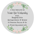 Waste Not Wednesday Link Party Feature Button
