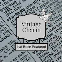 Vintage Charm Link Up Party Feature Button