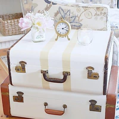 How to Repurpose a Vintage Suitcase for your Home Decor!