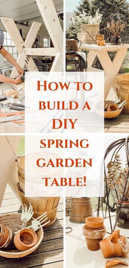 Outdoor DIY Garden Table