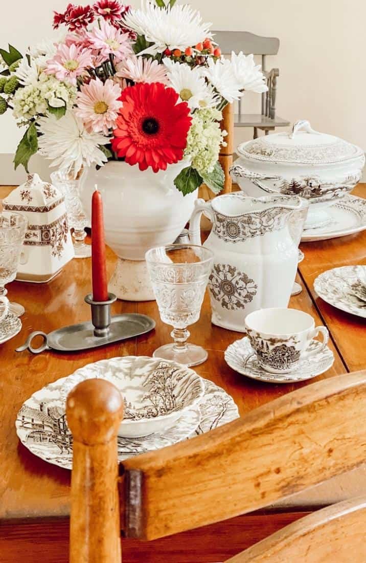 """My Mother's Antique Transferware Dish Collection """"In My Mother's Home..."""""""