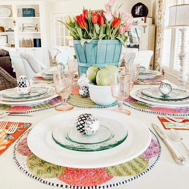 Simple Easter Tablescape with MacKenzie-Childs