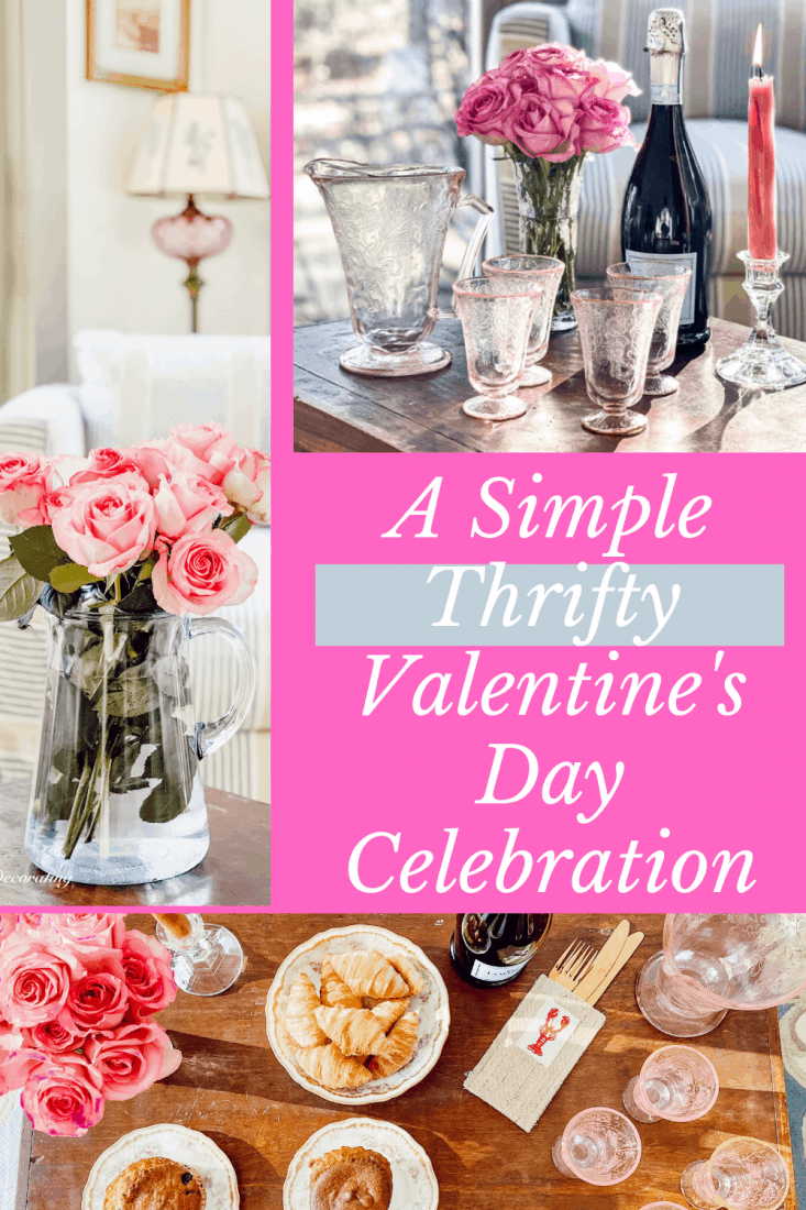 A Simple Thrifty Valentine's Day Celebration