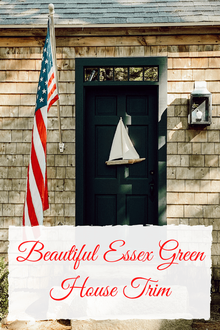 Beautiful Essex Green Coastal House Trim