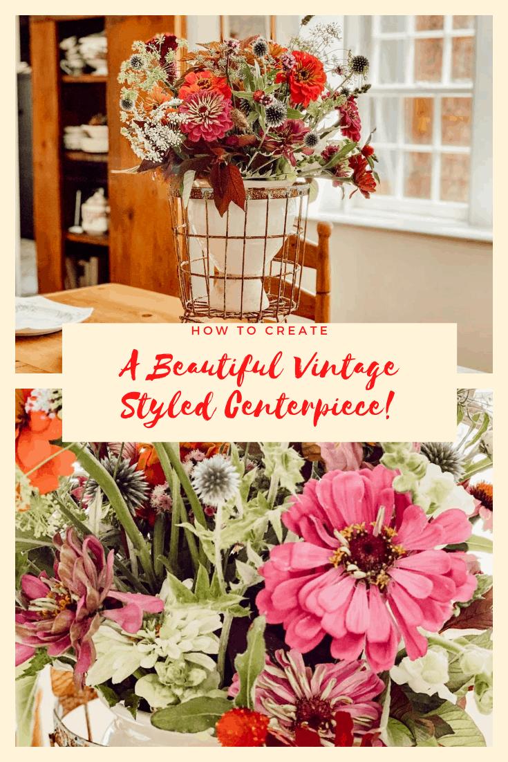 Vintage Style Flower Centerpiece