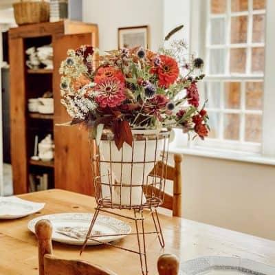 Vintage Styled Flower Centerpiece