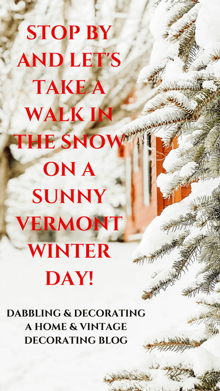 A Sunny Vermont Winter Day