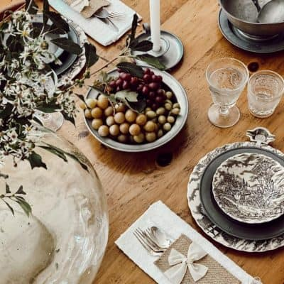 Pewter Tablescape with American Country Antiques