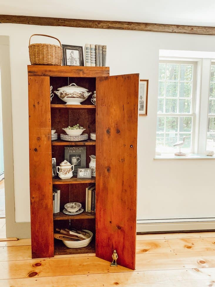 Styling an Antique Hutch