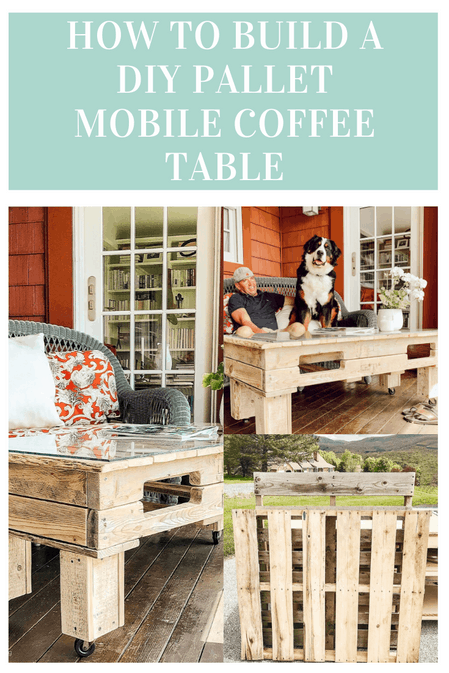 HOW TO BUILD A DIY PALLET MOBILE COFFEE TABLE