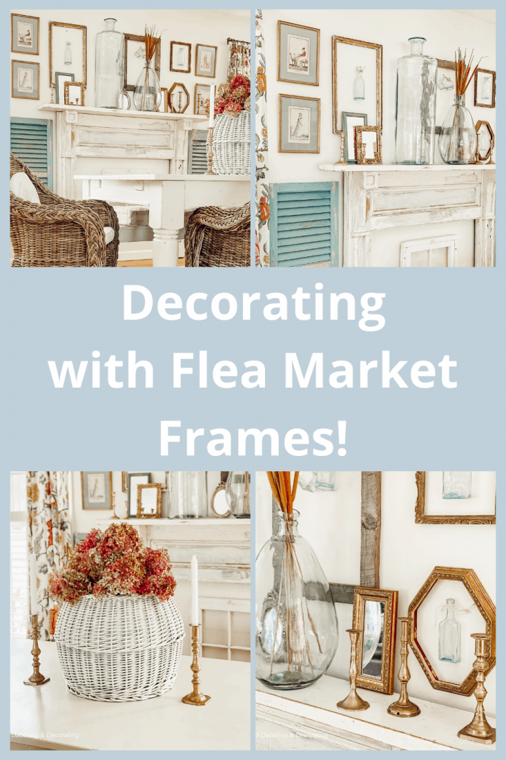 Decorating with Flea Market Frames