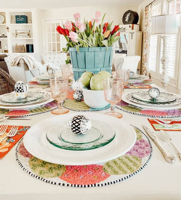 Simple Easter Table with MacKenzie-Childs