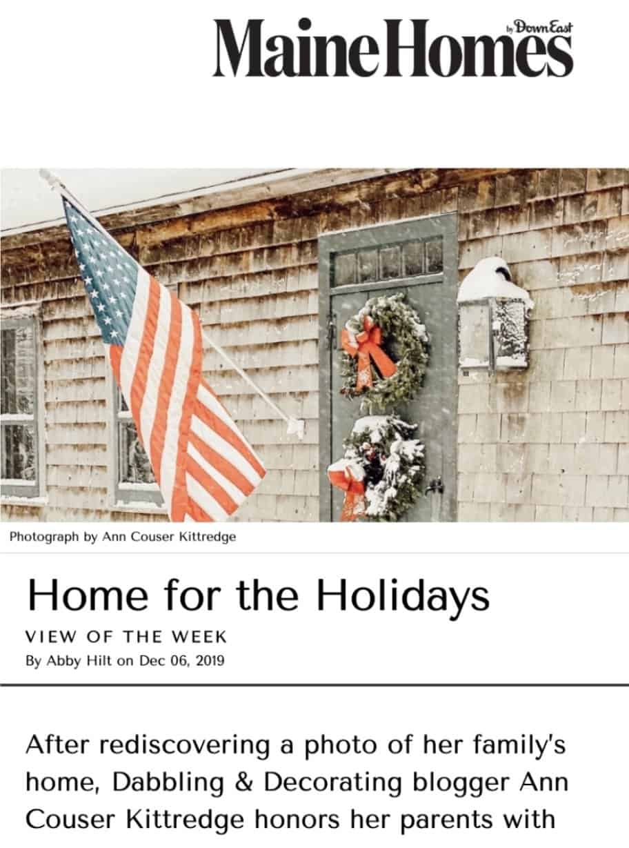 Maine Homes Magazine Article
