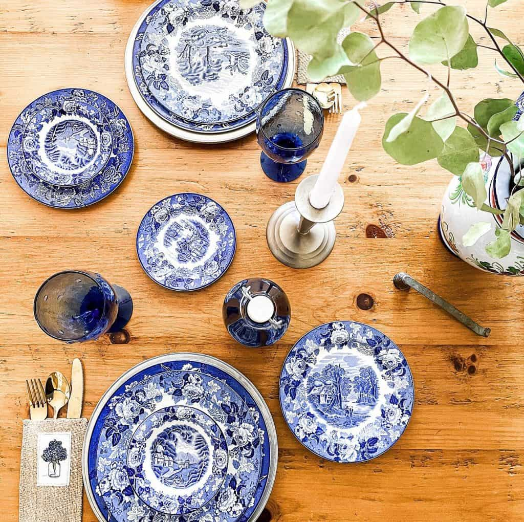 Set the Table in Blue