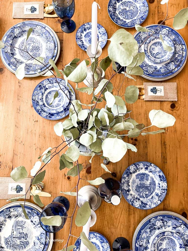 Set the Table with Blue