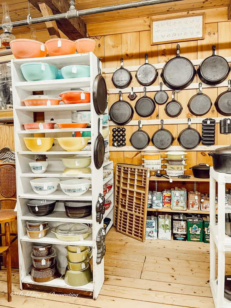 collection of kitchen items in a store