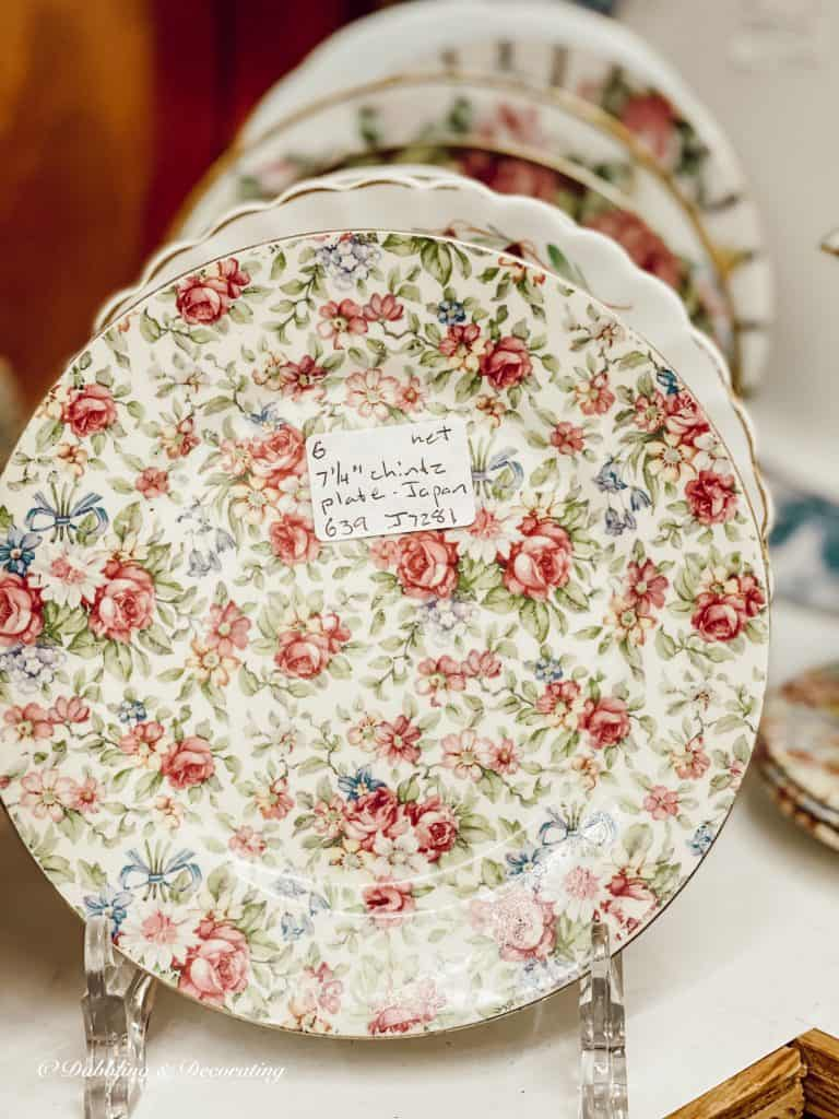 A close up of old dishes