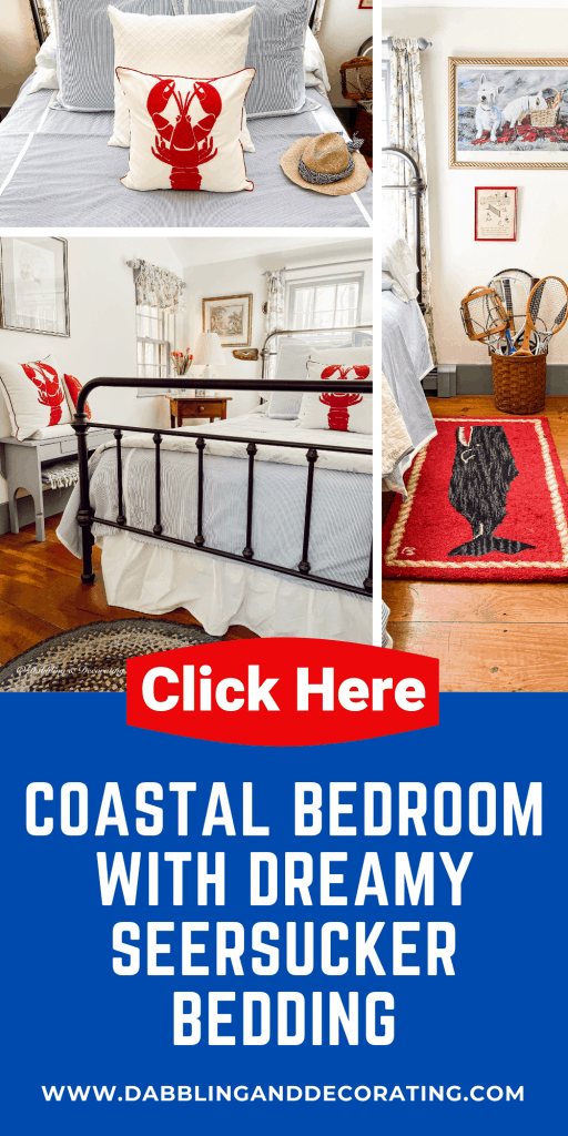 Coastal Bedroom with Dreamy Seersucker Bedding