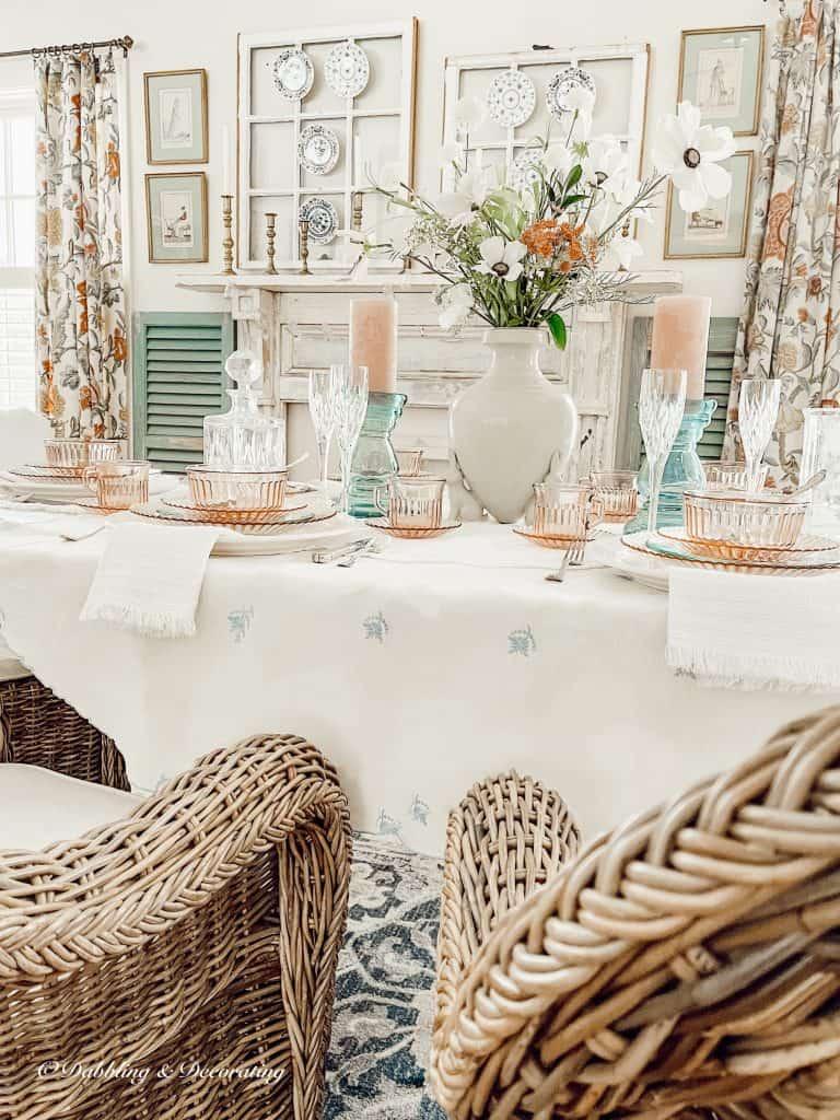 Vintage Spring Styled Dining Room.