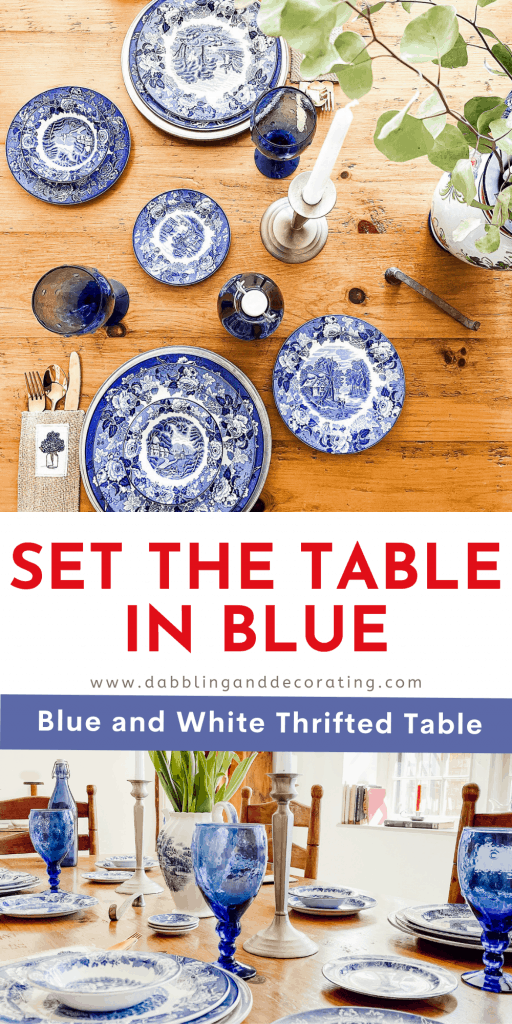 Set the Table in Blue Pin