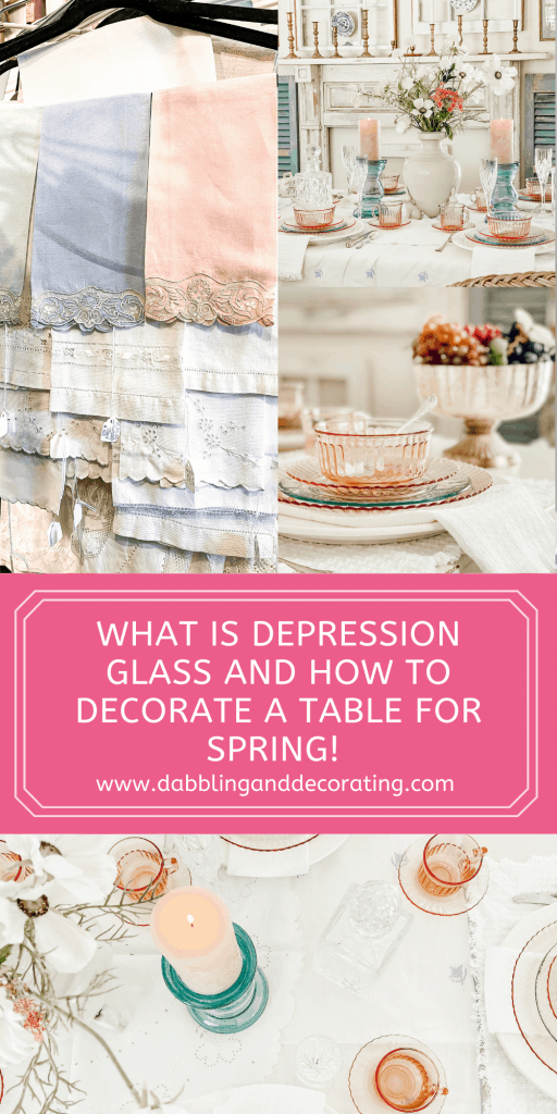 What is depression glass and how to decorate a table for spring!