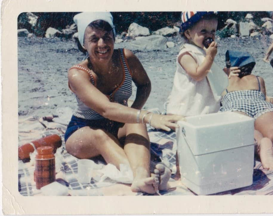 My mother and I as a baby on Long Sands Beach, Maine.  Coastal Maine Heritage - Embracing My Roots